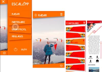 développement de projet _ les écrans clés finaux de l_application mobile escal_app _ David Marcellin 2