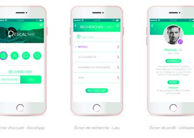 développement de projet _ les écrans clés finaux de l_application mobile escal_app _ Mohamed Farouqui